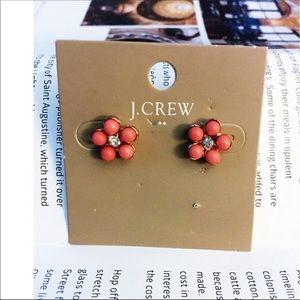 J Crew Factory Floral Stud Earrings